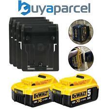 2 x Dewalt DCB184 5.0ah 18v Li-Ion baterías y XR 4 X Batería se monta Estante de pared