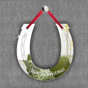 Personalised Hanging Decoration Birthday Wedding Memorial Party Gift HORSESHOE