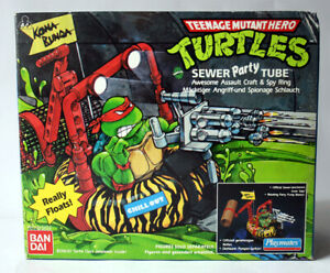 VINTAGE 1989 TMNT MUTANT NINJA TURTLES SEWER PARTY TUBE BANDAI NEW SEALED !GREAT