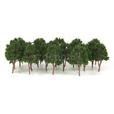 20Pcs Dark Green Model Trees N Scale Train Layouts Railroad Wargame Scenery Prop