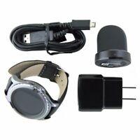 Samsung Gear S2 Classic SM-R735V (Verizon) Black Smartwatch / Black Leather Band