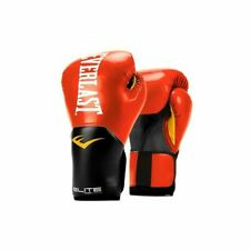 Everlast Elite Leather Training Boxing Gloves Size 14 Ounces, Red
