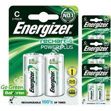 8 x Energizer C 2500 mAh Rechargeable Batteries LR14