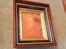 ANTIQUE 1800'S VICTORIAN ORNATE WOOD PICTURE FRAME GOLD GILDED ENGRAVED FANCY