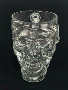 Treasure Island Casino Las Vegas Luminarc USA Glass Pirate Skull Mug / Cup 32 oz