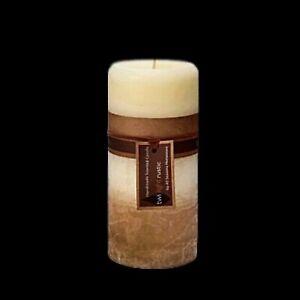 Scented Pillar Candle Candles Vanilla Cream Handmade Rustic Home Decor 7x15cm