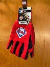 NEW CHILDRENS PHILLIES Sport Utility Gloves Red & Black W/Phillies Logo On Top
