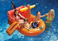 Galleon Raider Giant Inflatable Boat Pirate Ship Pool Ride On Swimline 90945