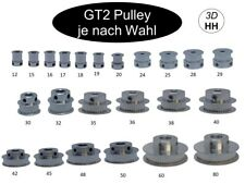 6mm GT2 Zahnrad Pulley Ritzel Scheibe ver. Zähne und ver. Ø GT-2 SOFORTVERSAND