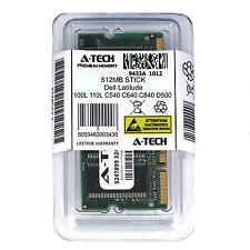512MB SODIMM Dell Latitude 100L 110L C540 C640 C840 D500 D505 D600 Ram Memory