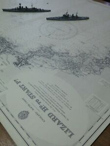 Vintage Admiralty Chart ~ England South  Lizard Head To Start Point ~ No.442