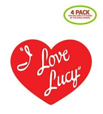 I Love Lucy Sticker Vinyl Decal 4 Pack