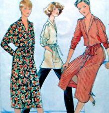 "Vtg UC Butterick 6481 Sew Pattern Dolman Sleeve Dress Tunic Top Shawl Collar 32"""