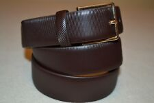 "Paul Smith PS Mens Striped Saffiano Leather Belt 38"" Brand New"