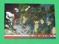 1993 CYBERFORCE WIZARD MAGAZINE 2 CHROMIUM PROMO CARD #4 MARC SILVESTRI RAINBOW!