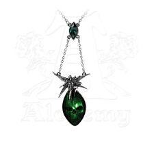 Alchemy of England Absinthe Fairy Necklace with Emerald Green Swarovski Crystal