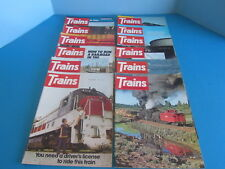 Vintage Trains The Magazine of Railroading 12 Issues from 1974