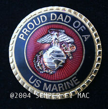 PROUD DAD OF A MARINE HAT LAPEL PIN US MARINES SON DAUGHTER WM GRADUATION BOOT