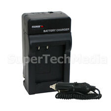 Battery Rapid Charger with Car Kit for Canon NB-10L PowerShot SX50 HS G15 G1 X