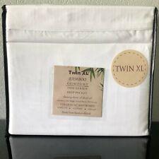 Bamboo Blend Comfort 1800 Series Luxury Sheet Set (3Pc) TwinXL White Deep Pocket