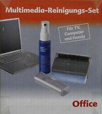 OFFICE MULTIMEDIA REINIGUNGS SET FÜR TV CMPUTER u. HANDY -NEU-