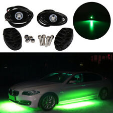 2X Green LED Rock Light JEEP Off-road Truck UnderBody Trail Rig Light Waterproof