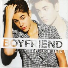 """JUSTIN BIEBER """"BOYFRIEND"""" RARE CD SINGLE WITH SIGNED POSTER"""