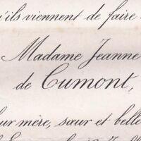 Jeanne Marie Caroline De Cumont Maxime De Gaigneron De Morin 1880