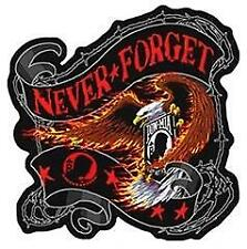 4 INCH NEVER FORGET POW BANNER EAGLE PATCH embroidered USA p3000 iron or sew on