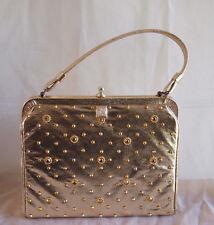 SALE! Vintage  Soure New York Handbag Mid-Century Purse Bag Gold studded