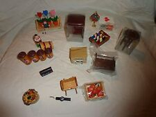 Miniature Dollhouse Collectible Accessories Mini Dreams Bathroom Sink Tub Toilet