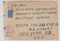 1946 Germany censored Cover to Hilswerk Ostpreuhsen Committee in USA