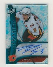 Dion Phaneuf 09-10 UD Trilogy Ice Scripts Autograph