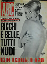 """ ABC : N° 31 / 31/LUG/1966 - MINOU KOCH - ABE CIBRA -SETT. POLITICA e SOCIETA'"