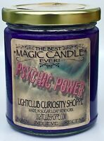 Wiccan Magic Spell Candle for PSYCHIC POWER - MESSAGES - THIRD EYE - SEEKERS -