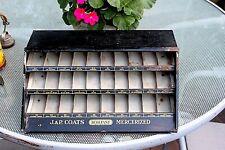 J & B Coats Mercerized metal display cabinet cute small Threads boilfast sewing