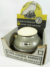 Vtg 50's Morris Struhl Chic Electric Foot Vibrator Massage w Retail Display Box
