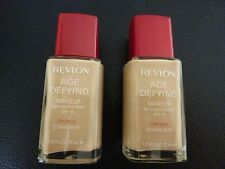 Revlon Age Defying Liquid Makeup / Foundation - BARE BUFF #02 - DRY - 2 Bottles