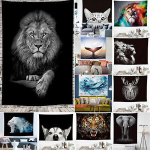 Animal Pattern Tapestry Wall Hanging Throw Cover Bedspread Blanket Home Decor
