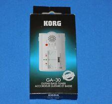 Korg Ga-30 Guitar/ Bass Tuner Unused In Original Box+Manual