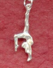 Gymnast Charm Solid 925 Sterling silver Pendant gymnastic