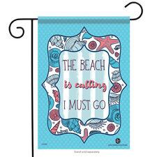 "The Beach is Calling Garden Flag Summer Shell Sand Nautical Starfish 12.5"" x 18"""