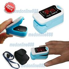 NEW LED Finger Tip Pulse Oximeter SPO2 PR Blood Oxygen Heart Rate Monitor+ Pouch