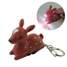 Deer Key Chain Ring with LED Light and Animal Sound Lovely Keychains