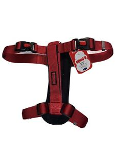 """KONG Padded Chest Plate Dog Harness BRAND NEW-XL Red Girth 32-49"""""""