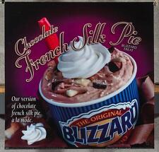 Dairy Queen Promotional Poster For Backlit Menu Sign French Silk Blizzard dq2