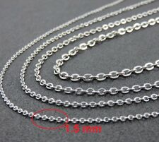"""18"""" 1.5mm Stainless Steel Link Chain for Pendant Silver Tone Necklace STlnk1.5S"""
