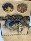 Mary Engelbreit My First Piggy Bank Tooth and Curl Box Gift Baby Boy 3 Piece Set
