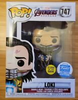 Avengers End Game Funko Pop Limited Edition LOKI 747 Glow in the Dark