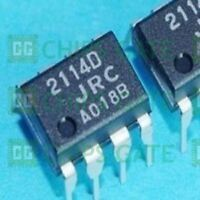 9PCS HIGH PERFORMANCE LOW NOISE DUAL OP AMP IC JRC DIP-8 NJM2114D JRC2114D 2114D